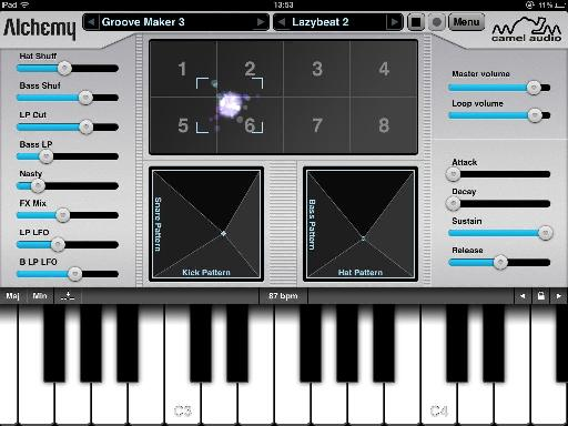 The simple looking interface hides a highly sophisticated synth engine.