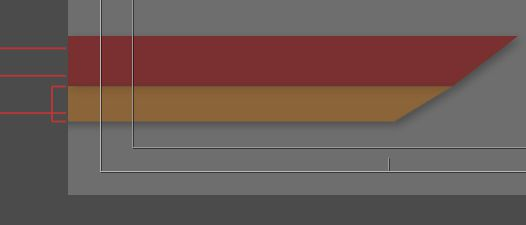 Adjust X and Y values for the orange layer