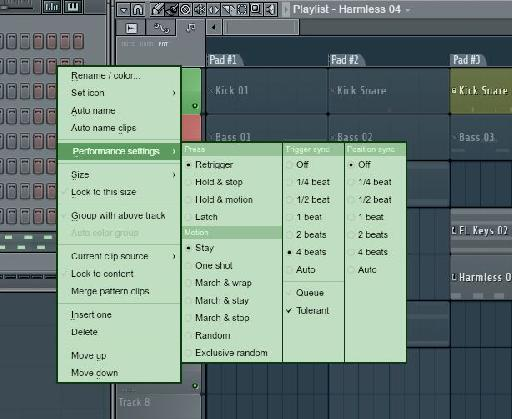 Performance Modes for Tracks