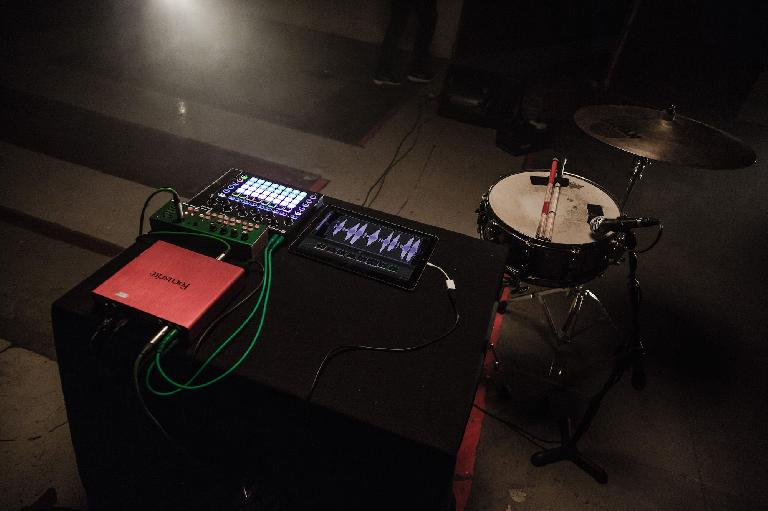 Blocs Wave with Focusrite audio interface, Novation Circuit & Critter & Guitari Pocket Piano