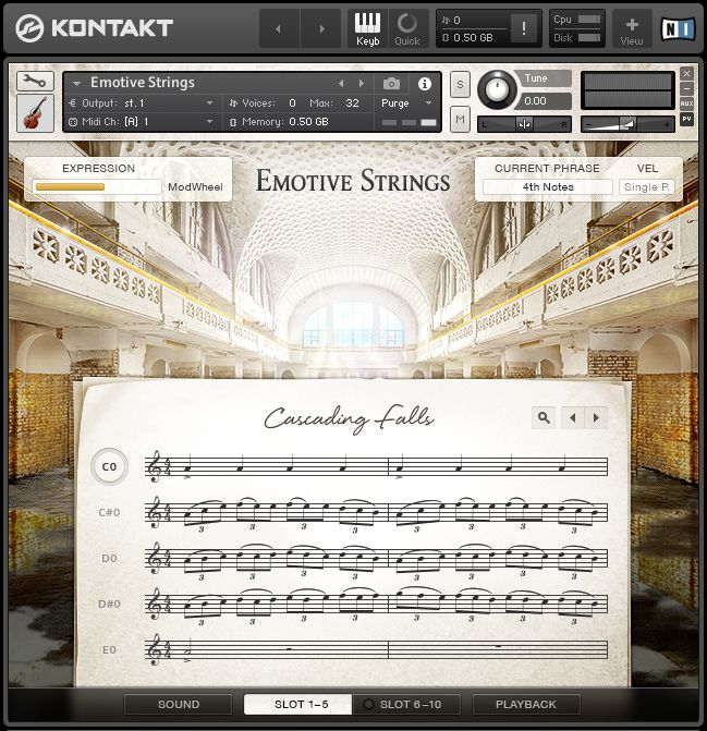 NI Emotive Strings for Kontakt main page.