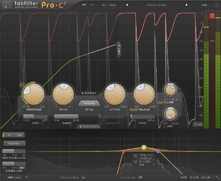 PIC 4: C2's sidechain mode in view.