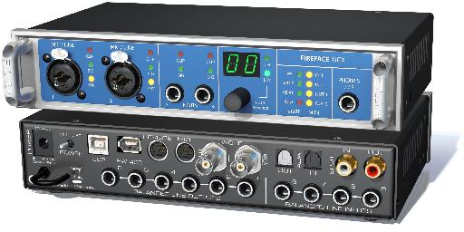 The RME Fireface UCX - one interface that allows multi-input recording to Auria