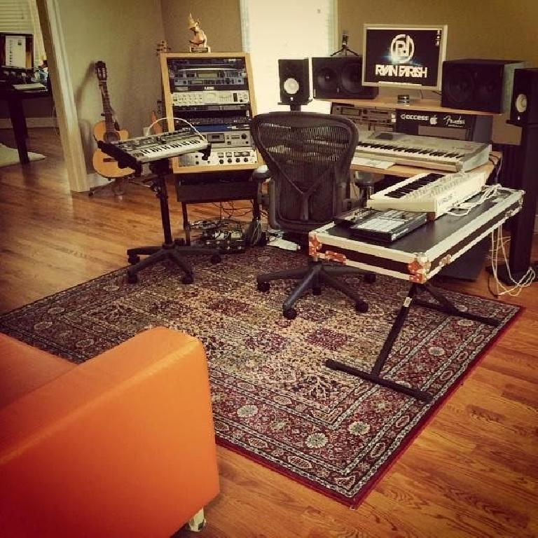 Ryan Farish's studio setup