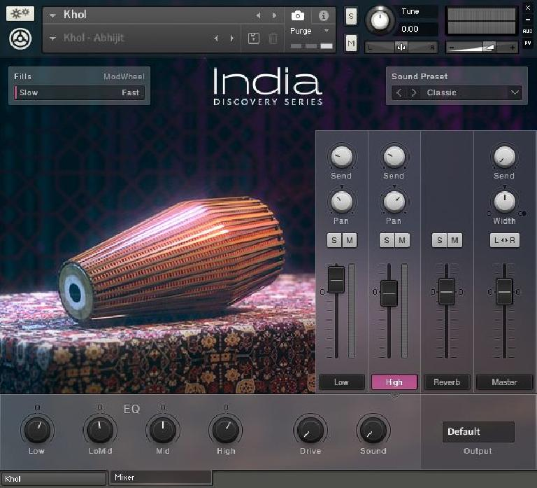 INDIA: Percussion mixer screen