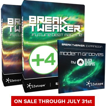 iZotope BreakTweaker is on sale through July 31, 2014.
