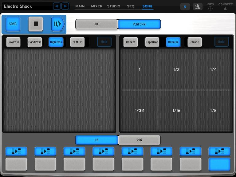 Use iSpark as a DJ tool as well as for composition