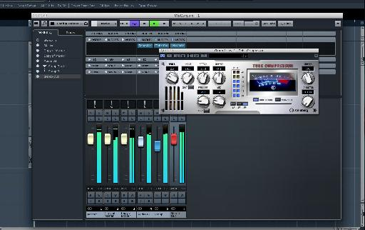 (Pic 5) Some parallel compression is added courtesy of Cubase's Valve Compressor.