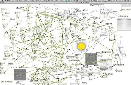 One of Richard's complex Max MSP patches.