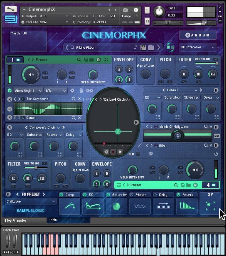 Sample Logic CINEMORPHX for Kontakt interface