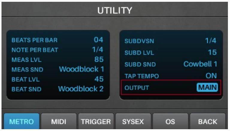 Metronome Output Routing