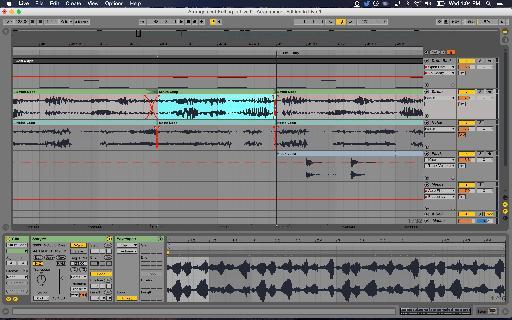 Multi-track reverse edit.