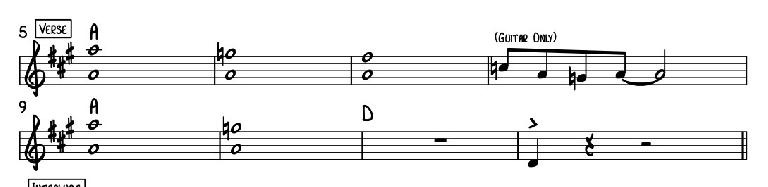 Reading a Lead Sheet: Measures