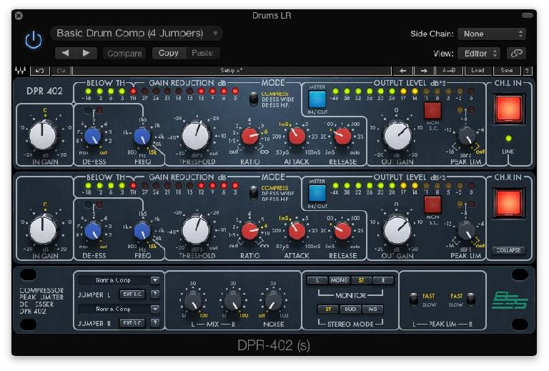 Fig 2 The Waves BSS DPR-402 plug-in