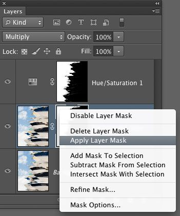 Apply layer mask