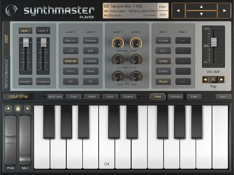 SynthMaster 2 for iPad