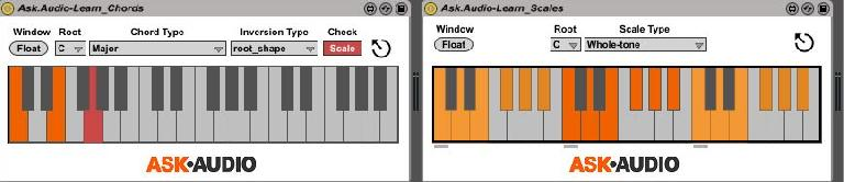Learn Scales / Chords Check function.