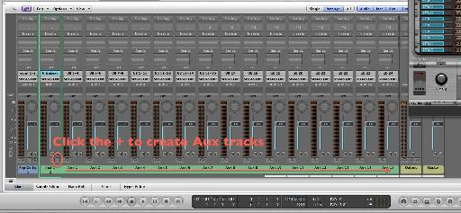Create Aux tracks