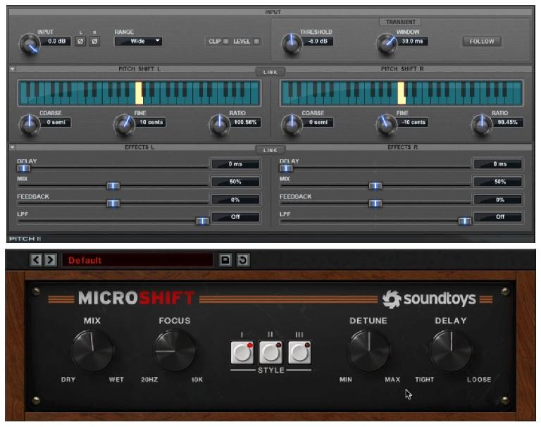 Two plug-ins that incorporate micro-pitch-shifts for widening
