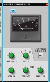 The Buss compressor is right at the heart of Reason 6's master channel