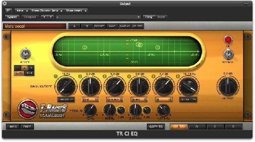T-RackS Equalizer in a separate plug-in window.