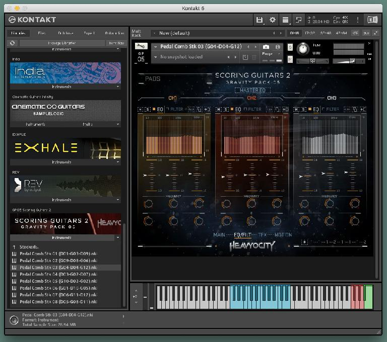 Heavyocity Scoring Guitars 2 EQ