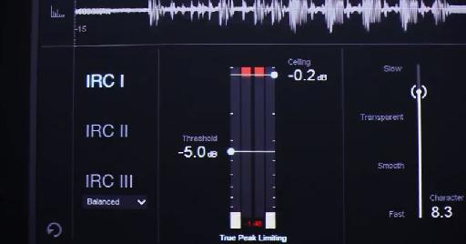 iZotope Ozone 6 limter screenshot.