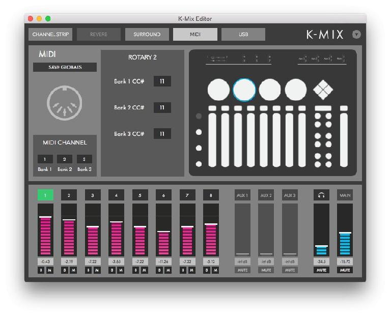 MIDI Panel
