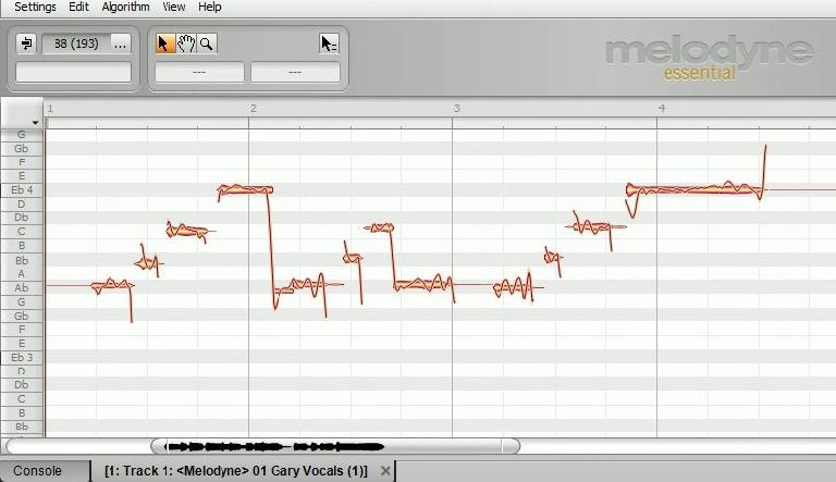 Melodyne Interface