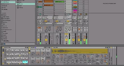 A screenshot from Ableton Live where random beats are being generated.