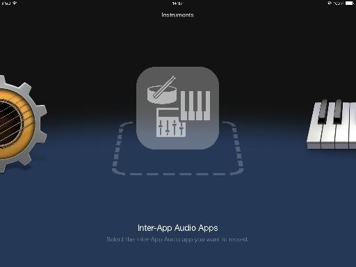 GarageBand for iPad support Inter-App Audio.
