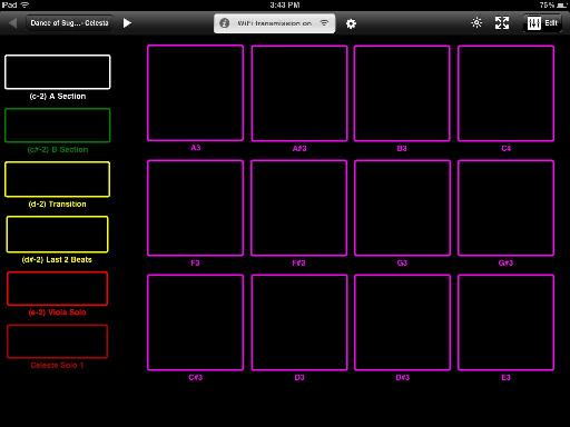 "Midi Touch, all set up for student performance of Tchaikovsky's ""Dance of the Sugar Plum Fairy"""