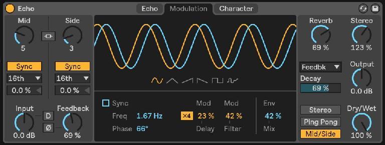 Echo's Modulation tab