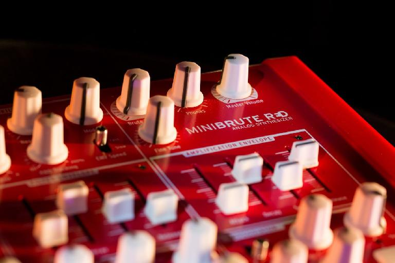 Sizzling hot limited edition red version of the Arturia MiniBrute.
