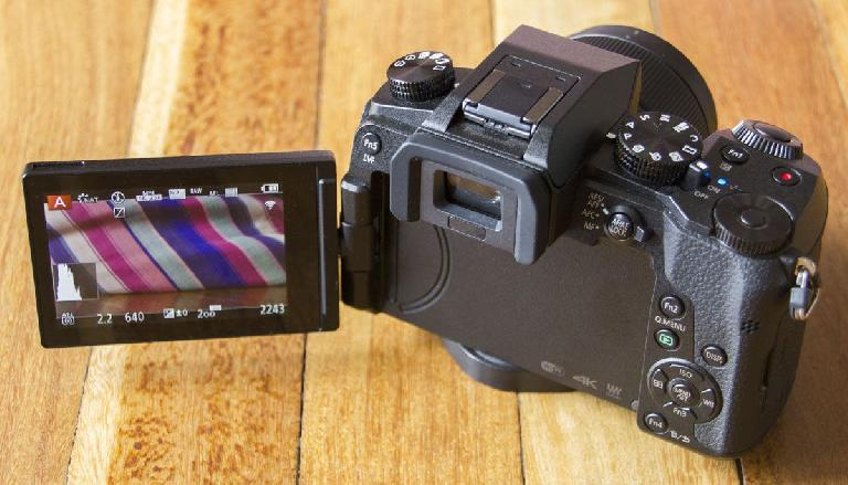 The Panasonic G7 with all its buttons and dials on show