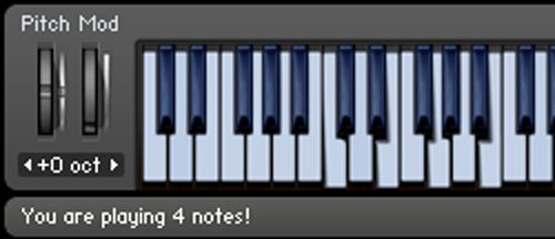 You are playing 4 notes!
