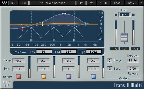 Waves Trans-X transient shaping plug-in.