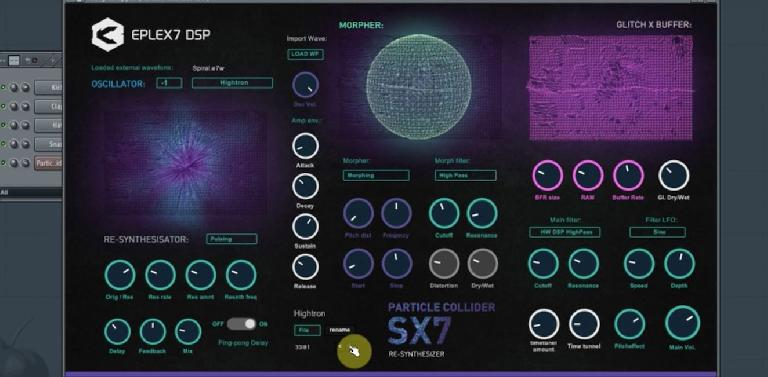 Particle Collider re-synthesizer plugin.