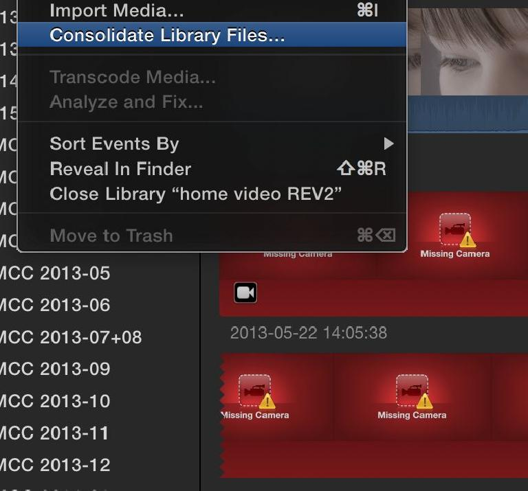 If only I'd consolidated my media earlier, I wouldn't have that error