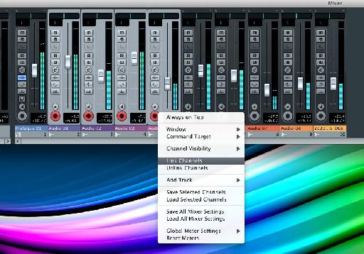 Linking tracks in Cubase is extremely straight forward
