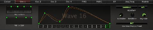 Transition in progress and full wavetable.