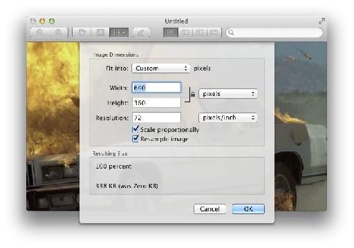 Open Preview and choose File>New (Command-N); Preview will create a new PNG document the same size as the movie file.