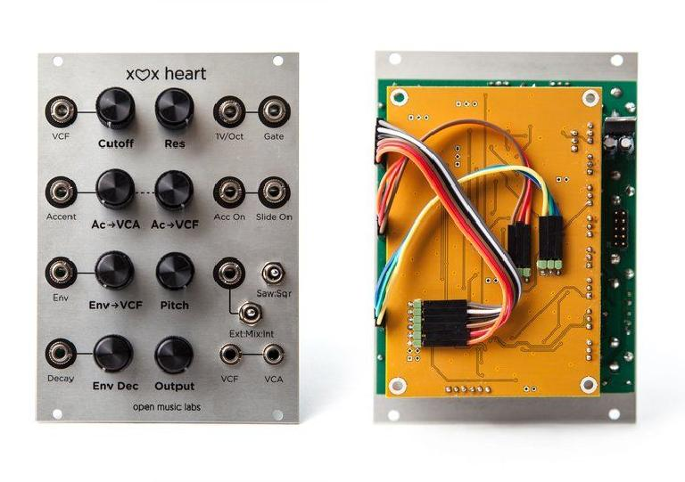 Open Music Labs x0x-heart 303 clone for Eurorack.