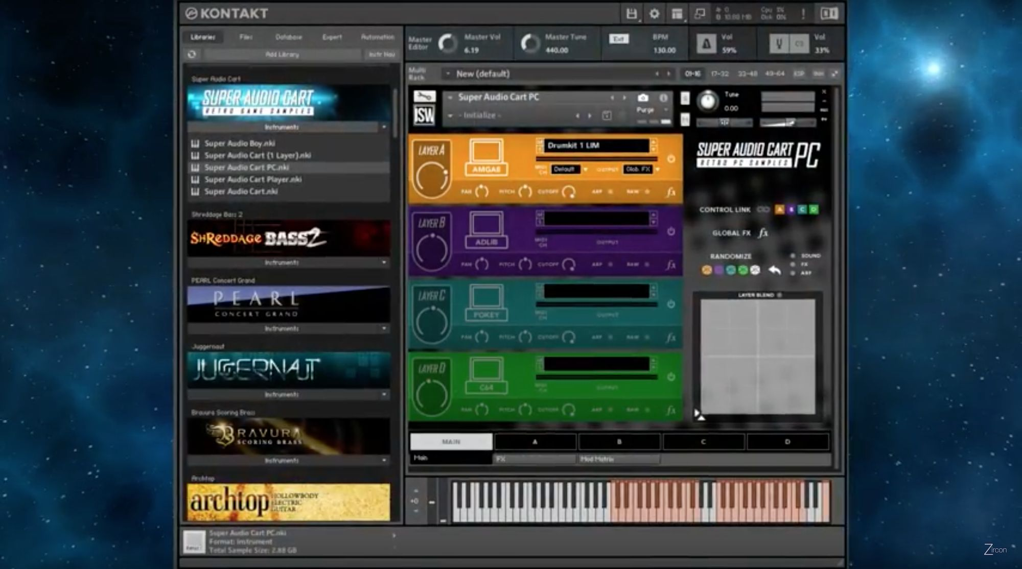 Super Audio Cart PC in Kontakt