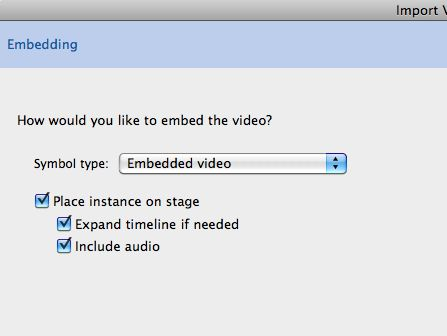 embed to MC options
