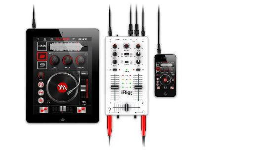 The iRig Mix can be used with a dizzying array of sound sources.