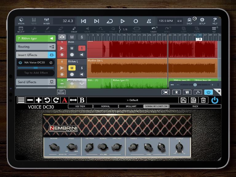 Nembrini Audio Vintage Vox AC30 for iPad