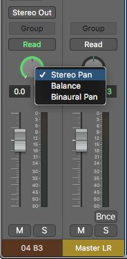 Logic's Pan knob options