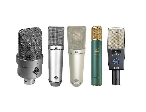 Fig 3) Some high-end Microphones.