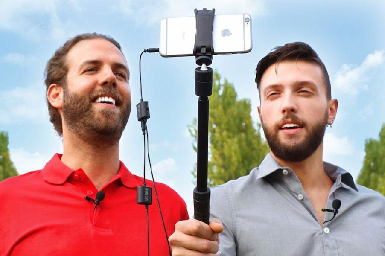 All smiles at IK Multimedia with the new iRig Mic Lav kit.